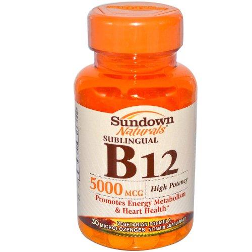 High Potency Sublingual B12, 5000 mcg, 30 Microlozenges