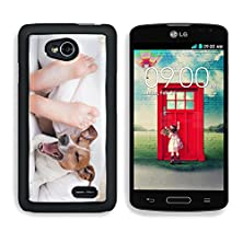 buy Msd Lg Optimus L70 Dual Aluminum Plate Bumper Snap Case Yawning Dog In Bed With Owner Under White Bed Sheet 28038470