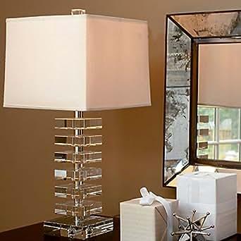 LIJUN Modern And Simple Crystal Table Lamp Bedroom Lamp Living Room Den