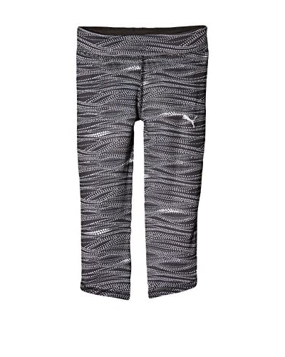 Puma Leggings Active 3/4 Tights G [Nero/Bianco]