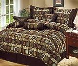 LCM Home Fashions Soho 7-Piece California King Comforter Set