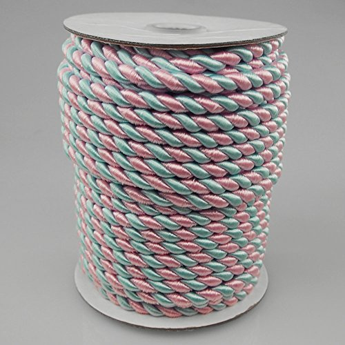 2 Ply Twisted Cord Rope, 25 Yards, 6Mm, Pastel Color (Pink/Blue) front-58519