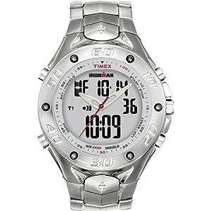 6e1b9e288ac2 T56371 Timex Ironman Triathlon 42 Lap Combo Stainless Steel Analog-Digital  Dress Men s Watch