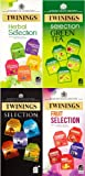 Twinings 20 Assorted Flavours, Fruit, Green Tea, Speciality Tea & Herbal Selection, (100 Tea Bags)
