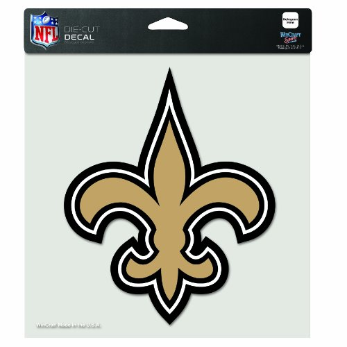 NFL New Orleans Saints 8-by-8 Inch Diecut Colored Decal at Amazon.com