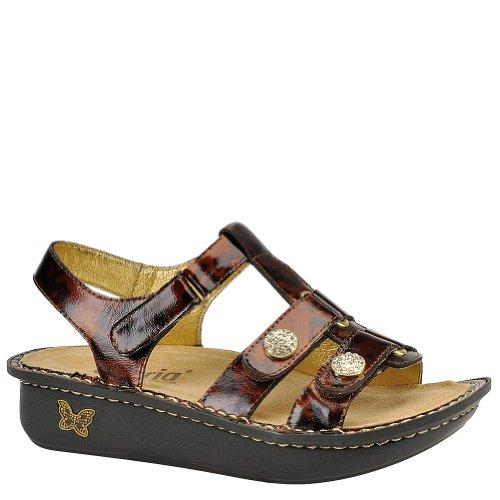 Alegria Women's Kleo Sandal Cognac Splash Size 38