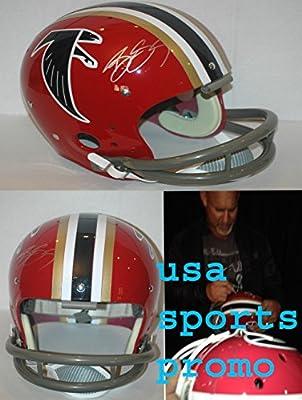 Bill Goldberg Altanta Falcons TK Riddell Throwback Helmet COA Hologram