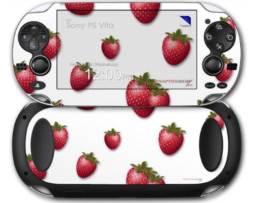 Sony PS Vita Skin Strawberries on White by WraptorSkinz