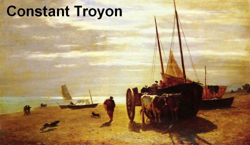 33 Color Paintings of Constant Troyon - French Landscape & Animal Painter (August 28, 1810 - February 21, 1865)