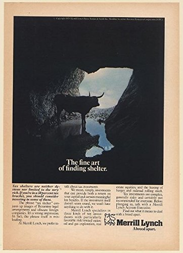 1979-merrill-lynch-bull-in-cave-the-fine-art-of-finding-shelter-print-ad-66261
