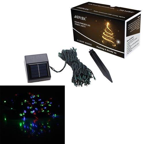 Agptek® 60 Led Solar Powered Multi-Color String Led Light - Outdoor And Indoor Use