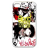 D-6 Music Band Blood on the Dance Floor Print White Case With Hard Shell Cover for Apple iPhone 4/4S