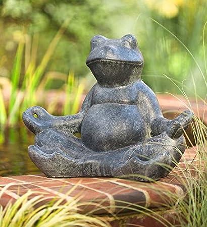 Jr. Meditating Frog Garden Statue