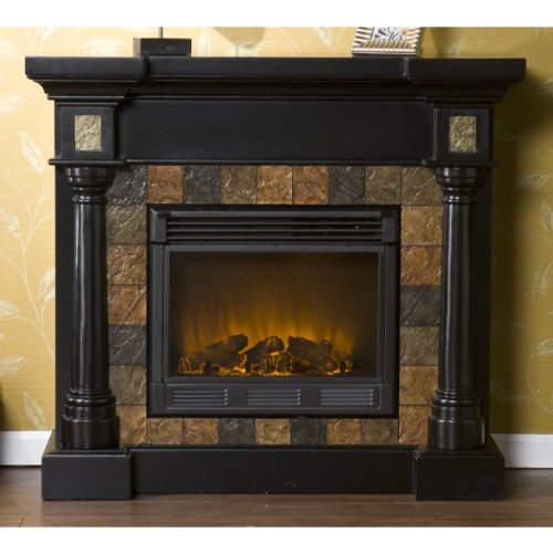 "Weatherford Black Convertible Electric Fireplace (Black) (40""H x 44.5""W x 28""D)"