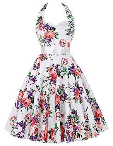 GRACE KARIN Women Vintage 1950s Polka Dots Rockabilly Dress with Sash 0