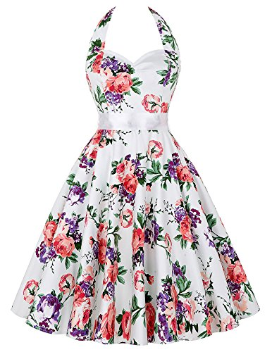 GRACE KARIN Women Vintage 1950s Polka Dots Rockabilly Dress with Sash 0