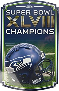 Seattle Seahawks 2014 Super Bowl Champions 11X17 Team Wood Sign By Wincraft by WinCraft