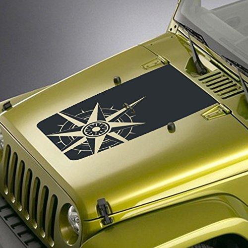 Jeepazoid Jeep Wrangler Compass Hood Blackout Decal