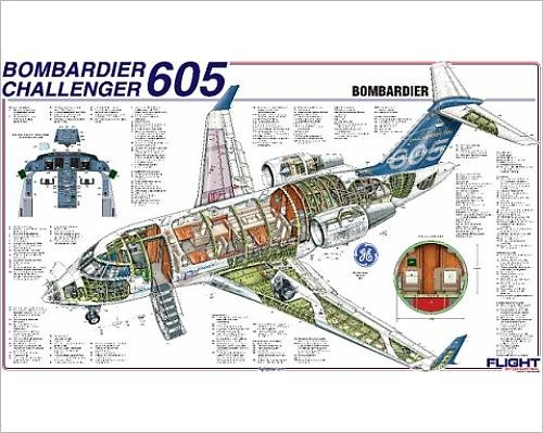 photographic-print-of-bombardier-challenger-605-cutaway-poster