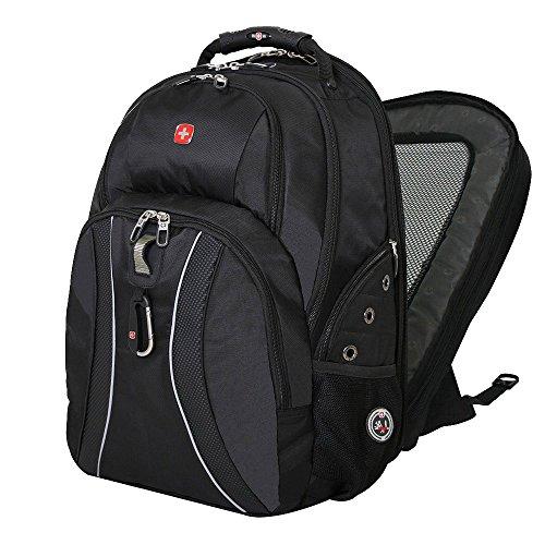 """17"""" Laptops / Notebook Swissgear Scansmart Backpack - Green Ace - Black Color"""