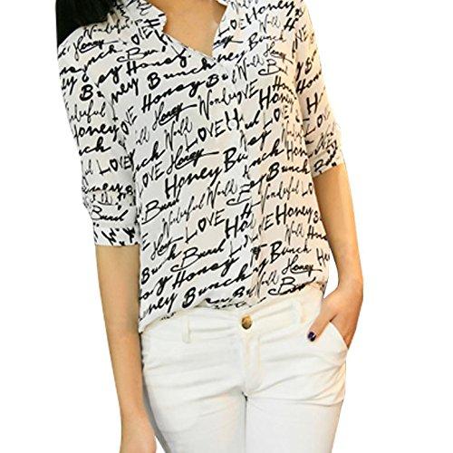 shouhengda-women-chiffon-lapel-v-neck-blouse-plaid-button-down-tops