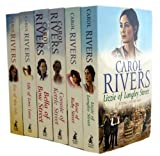 Carol Rivers Carol Rivers Collection 6 Books Set (Lizzie of Langley Street, Rose of Ruby Street, Connie of Kettle Street, Bella of Bow Street, Lily of Love Lane, Eve of the Isle)