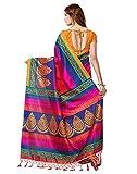 e-VASTRAM Womens Mysore Art Silk Saree with Blouse Piece(NSTASSELMULTI_Multi)