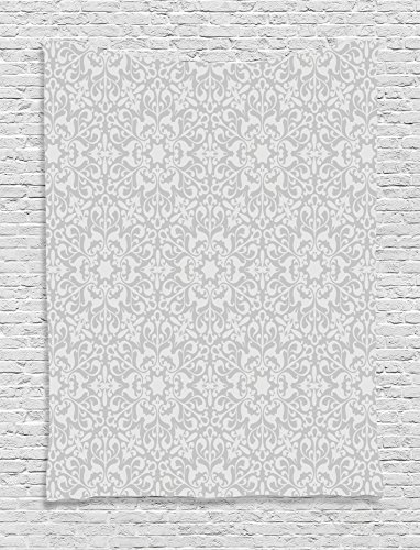 Ambesonne Taupe Decor Collection, Antique Floral Motifs Arabian Islamic Art Patterns in Mod Graphic Design Oriental Boho Chic Deco, Bedroom Living Room Dorm Wall Hanging Tapestry, (Arabian Party Decorations)