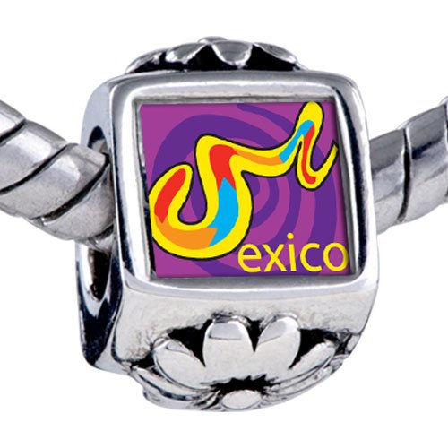 Pugster Bead Multicolored Mexico Beads Fits Pandora Bracelet