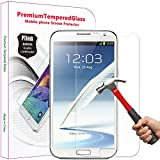 PThink® 0.3mm Ultra-thin Tempered Glass Screen Protector for Samsung Galaxy Note 2 N7100 with 9H Hardness/Anti-scratch/Fingerprint resistant (Samsung Galaxy Note 2 N7100)