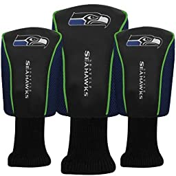 McArthur Sports - NFL Mesh Barrel Head Cover 3-Pack Seattle Seahawks