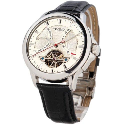 Time100 Orologio automatico uomo in pelle nero water resistant:50M colore marrone#W70035G.01A
