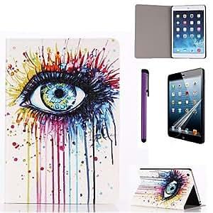 Amazon.com: Graffiti Ink Eye Pattern PU Leather Case with Screen
