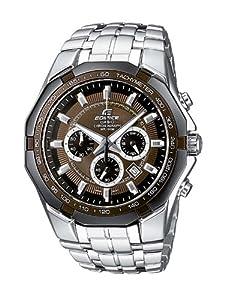 Casio Edifice EF-540D-5AVEF Men's Analog Quartz Watch with Chronograph and Steel Bracelet, Brown