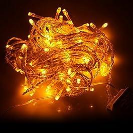 Ch&Ch 10M 100-LED della luce gialla LED Decorazione di Natale Luce della stringa (220V)