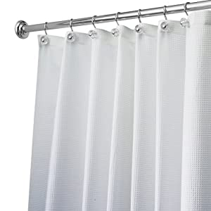 Amazon.com: Carlton Long Shower Curtain, 72 inch x 84 inch, White ...
