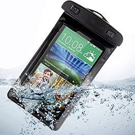 Semoss Custodia Impermeabile Waterproof per HTC One M8,Cover Subacquea Chiusura Ermetica