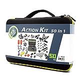 Zubehr-fr-GoProDeKaSi-50-In-1-Sport-Action-Kamera-fr-Hero-4-Session-Hero-1-2-3-3-mit-SJ4000-5000-6000-7000-Xiaomi-Yi-mit-Tragetasche-schwarz
