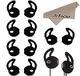 A-Focus  Apple Earphone EarPod 対応 イヤホンジェル/イヤホン・カバー/Ear Bud iPhone/iPod/iPad イヤホン専用 イヤーチップ スポーツ型 軽い 薄い ポーツ時に最適 アップル全シリーズ・イヤホン(iPhoneSE/6S/6/5S/5C、iPod Touch6/5 Nano7 等全てのApple機種EarPod)に適用 (ブラック 6ペア入り)