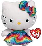 Ty Beanie Buddies Hello Kitty Plush, Rainbow, Medium