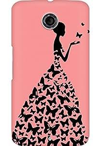 AMEZ designer printed 3d premium high quality back case cover for Motorola Nexus 6 (peach rpincess)