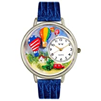 Whimsical Watches unisexe U1610010 Hot Air Ballons en cuir bleu royal Rights Watch