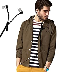 Zipper Style 3.5mm In Ear Bud Earphones Headset Handsfree Compatible For Micromax Canvas Tab P701 -Black