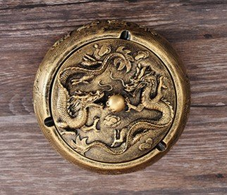 ashtray outdoor stand vintage smokeless tray antique cool unique Ceramics Bowl Gold Black 2