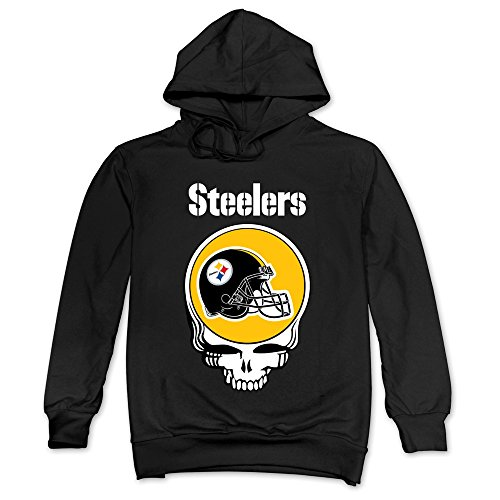 M07H Men's Hooded Pittsburgh Steelers Grateful Dead Black Size XXL