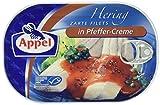 Appel Heringsfilets, zarte Fisch-Filets in Pfeffer-Creme, MSC zertifiziert, 10er Pack (10 x 200 g)