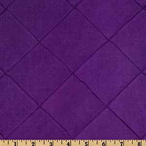 6'' Diamond Pintuck Taffeta Iridescent Plum Fabric By The Yard