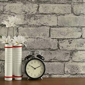 Urban brick 39 brickwork pattern wallpaper glossy finish for Grey kitchen wallpaper