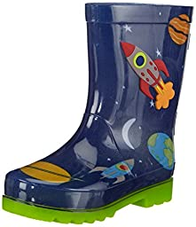 Skechers S Lights Waterspout Drip Drops Boys Rubber Boots Navy 10