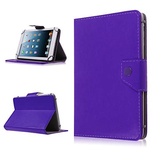 Buy Bargain 9 Inch Tablet Pad Hard Folio Protective Stand Cover Case - Faux Leather Carrying Case